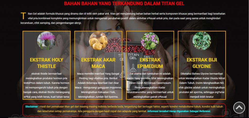 isi kandungan titan gel krim mitra seo website